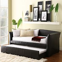 HomeVance Myra Daybed with Trundle (Brown)