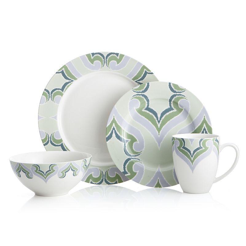 Oneida Amber Green 16-pc. Dinnerware Set