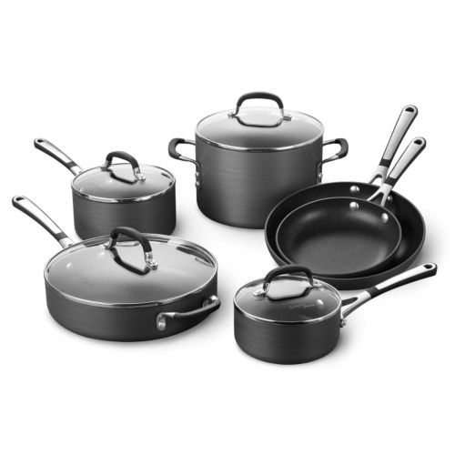 Simply Calphalon 10-pc. Hard-Anodized Nonstick Cookware Set