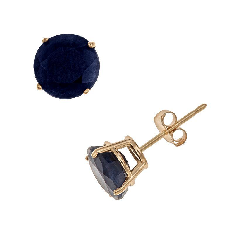 14k Gold Sapphire Stud Earrings