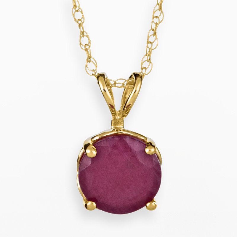 14k gold ruby jewelry kohl 39 s for Kohls jewelry mens rings