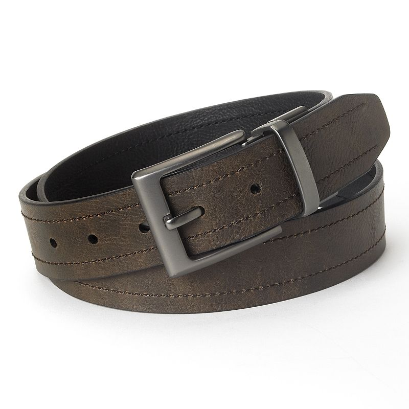 Columbia Reversible Logo Leather Belt - Men