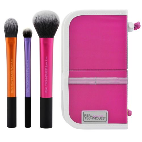 Real Techniques 3-pc. Travel Essentials Cosmetic Brush Set
