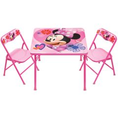 Disney Mickey Mouse & Friends Minnie Erasable Activity Table & Chair Set by Kids Only