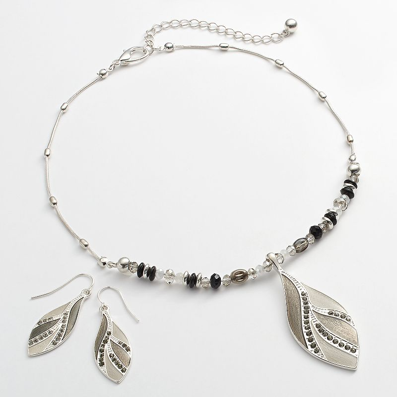 Croft & Barrow® Bead Pendant Necklace & Drop Earring Set