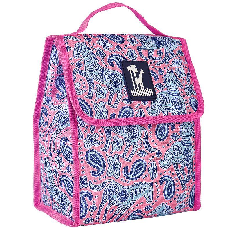 Wildkin Watercolor Ponies Munch 'n Lunch Bag - Kids