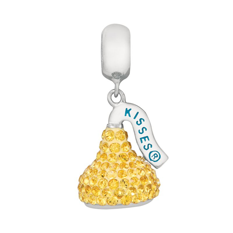 Sterling Silver Crystal Hershey's Kiss Charm - Made with Swarovski Crystals