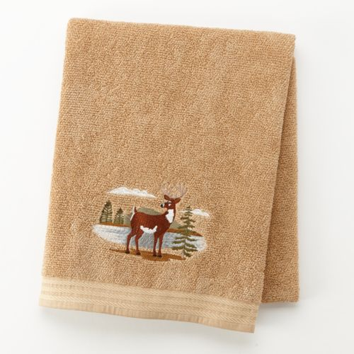 Northwoods Embroidered Bath Towel