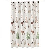 Silhouette Lodge Fabric Shower Curtain