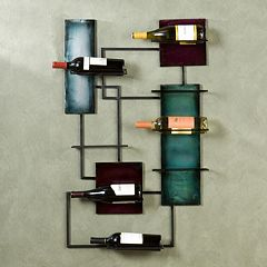 Geometric Wine Storage Wall Decor by