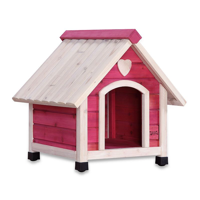 Pet Squeak Pink Arf Frame Dog House - Small