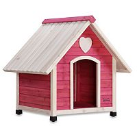 Pet Squeak Pink Arf Frame Dog House - Medium