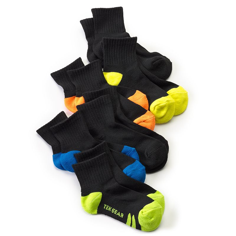 Boys 8-20 Tek Gear® 6-Pack Performance 1/4-Crew Socks