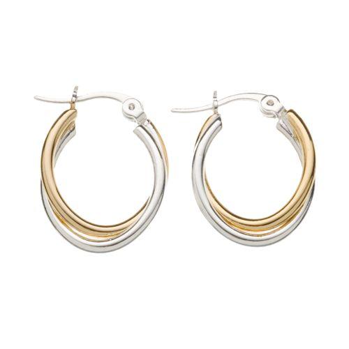 Croft & Barrow® Twist Oval-Hoop Earrings