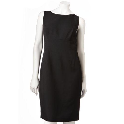 Gloria Vanderbilt Solid Sheath Dress - Women's