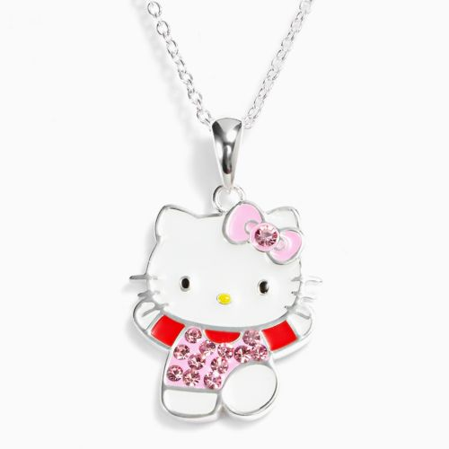 Hello Kitty Silver-Plated Crystal Pendant - Kids