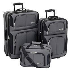 Leisure Trio 3-pc. Luggage Set (Charcoal)