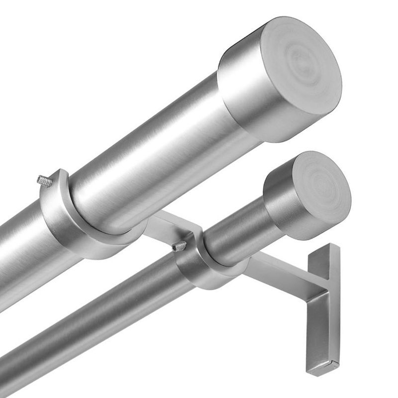 Umbra Cappa Adjustable Double Curtain Rod - 72'' - 144''