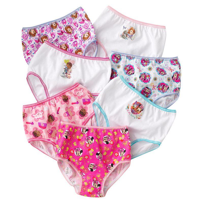 Disney 7-pk. Panties - Girls