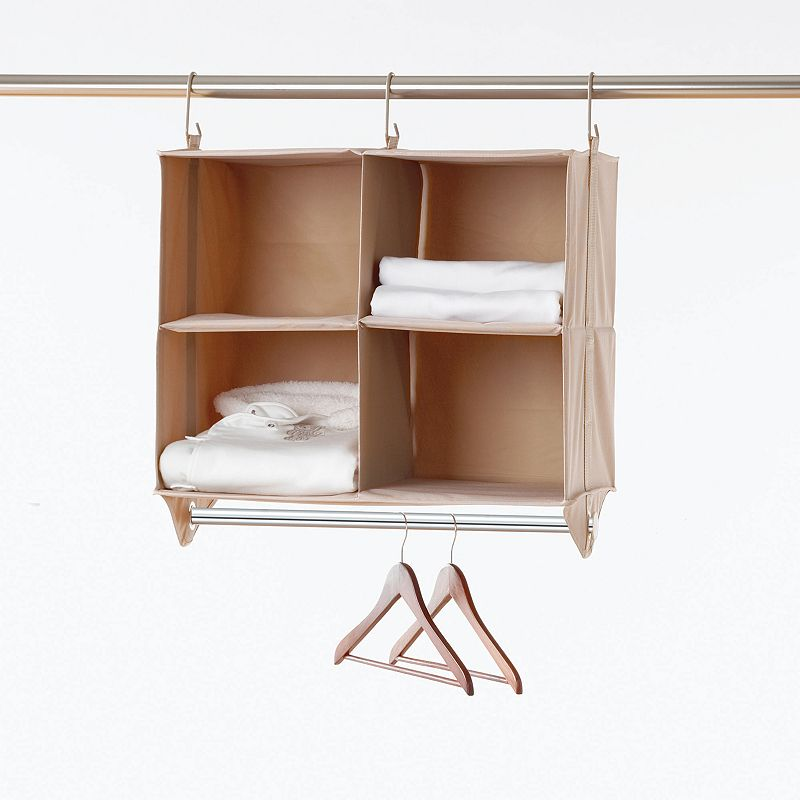neatfreak closetMAX System 4-Cubby Closet Organizer with Hanging Bar