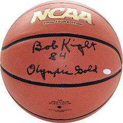 Steiner Sports Bob Knight 1984 Olympic Gold Autographed Basketball by