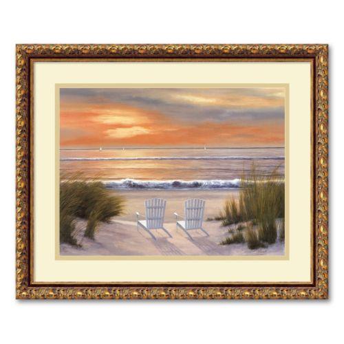 Paradise Sunset Framed Wall Art by Diane Romanello