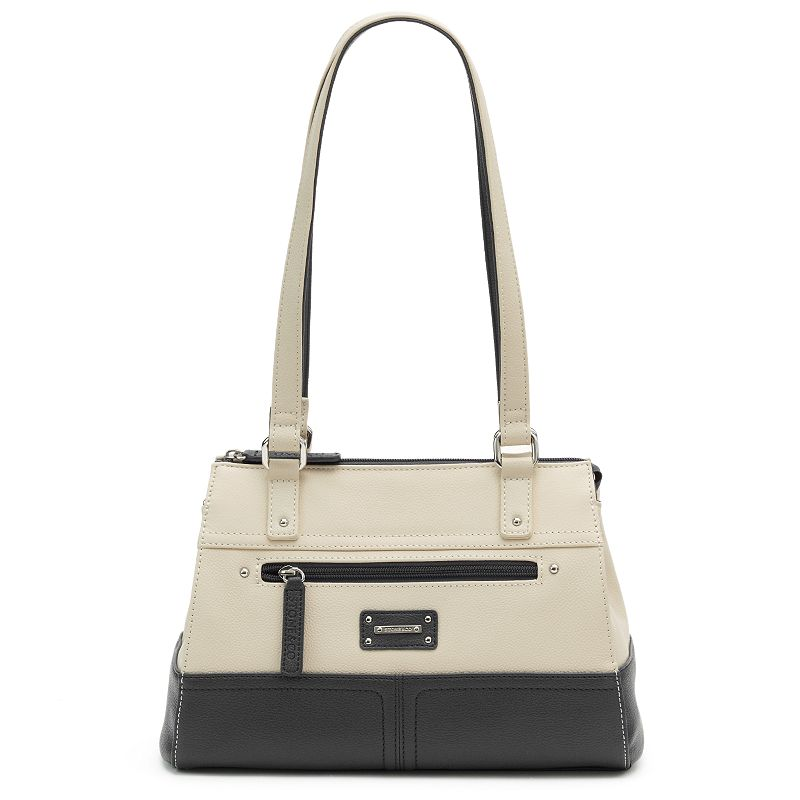Stone & Co. Donna Colorblock Leather Satchel