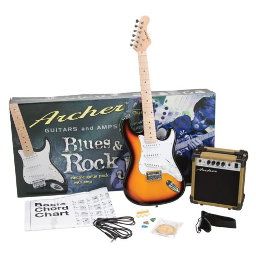 Archer Blues and Rock Jr. Electric Guitar and Amplifier Pack