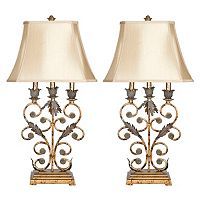 Safavieh Wrought Iron 2-pc. Table Lamp Set