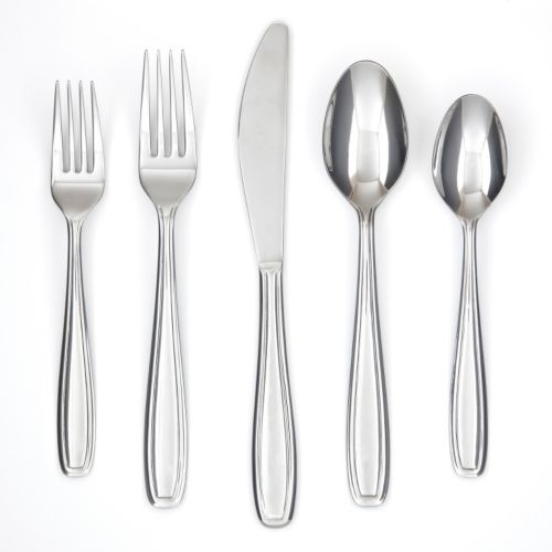 Farberware Vanilla Mirror 45-pc. Flatware Set