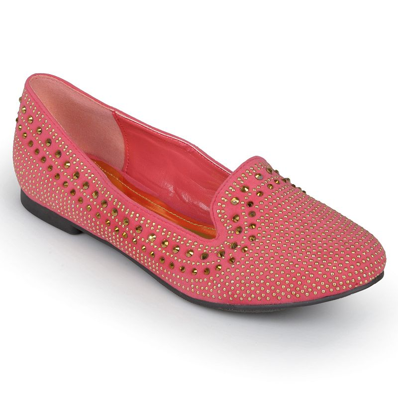 Journee Collection Clara Women's Studded Smoking Flats