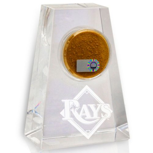 Steiner Sports Tampa Bay Rays Crystal Paper Weight with Logo and Game-Day Dirt