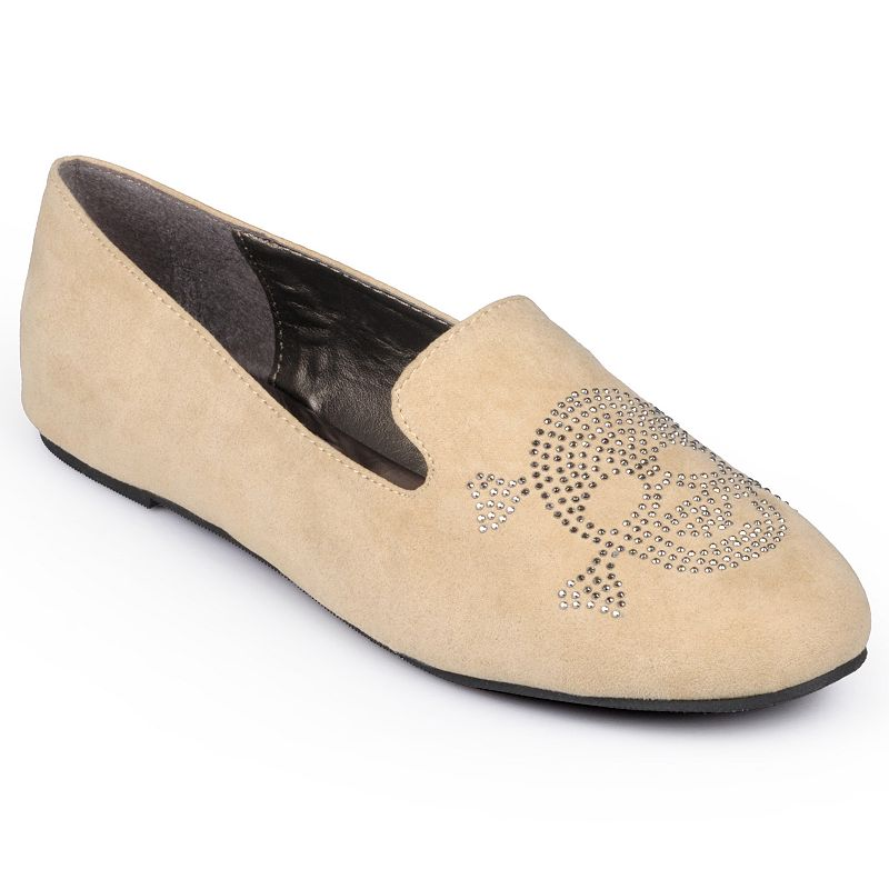 Journee Collection Messina Women's Studded Smoking Flats
