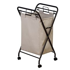 Household Essentials Rolling Laundry Hamper by
