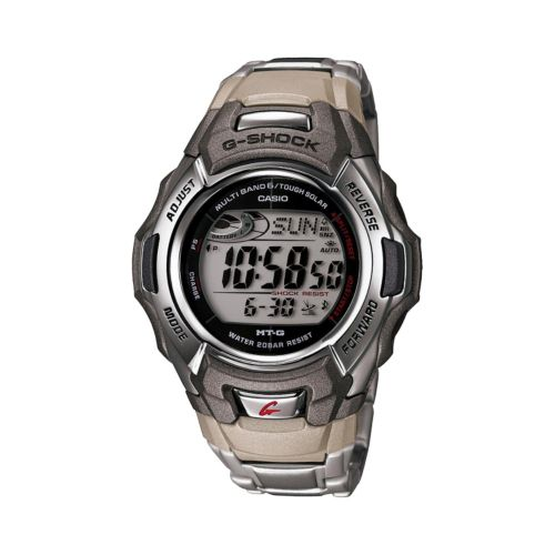 Casio Watch - Men's G-Shock Tough Solar Atomic Stainless Steel Digital Chronograph
