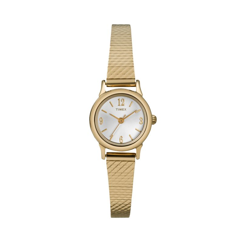 timex modern mini gold tone stainless steel mesh