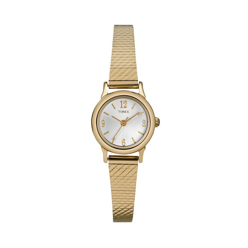 Timex modern mini gold tone stainless steel mesh watch t2p300 women for Watches kohls