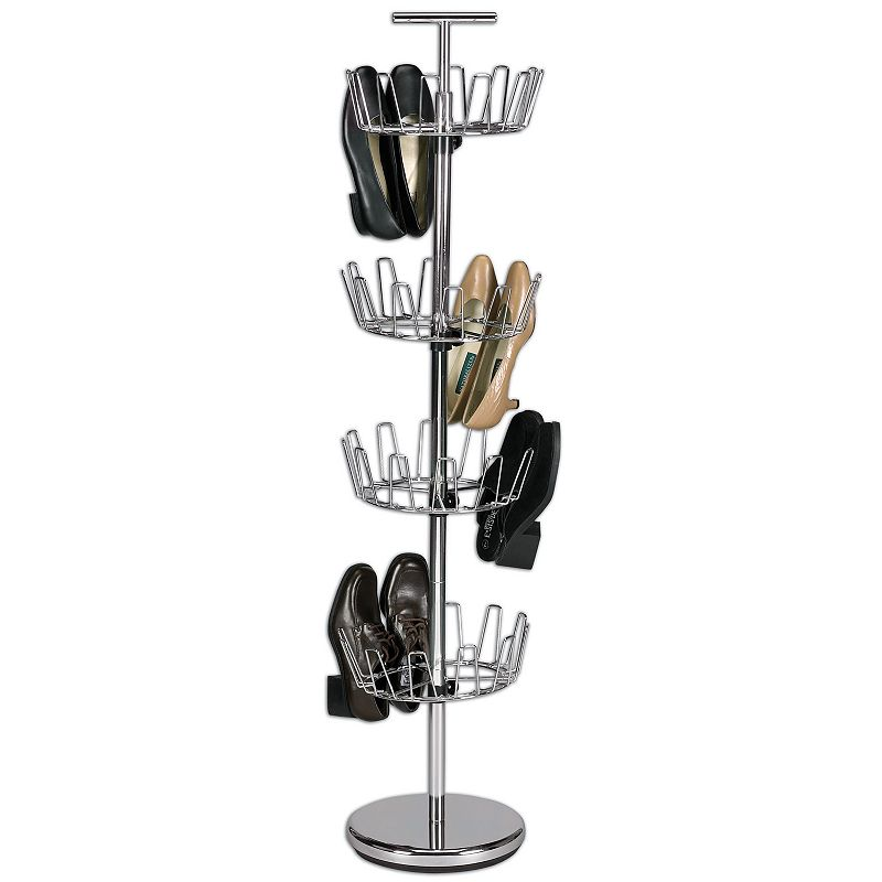 Household Essentials 4-Tier Revolving Shoe Tree