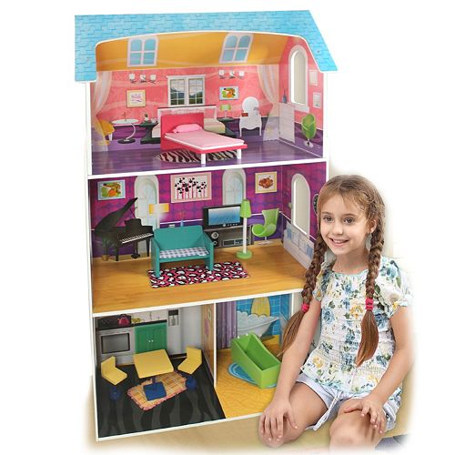 Winland Fashion Dollhouse and 7-pc. Furniture Set