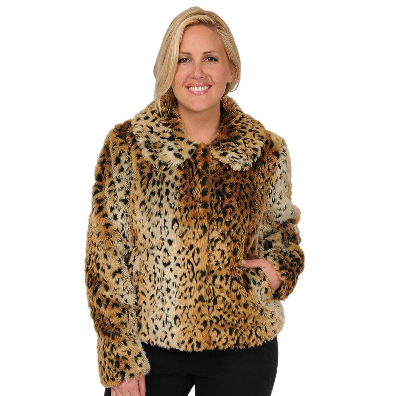 Excelled Leopard Faux-Fur Coat - Women's Plus