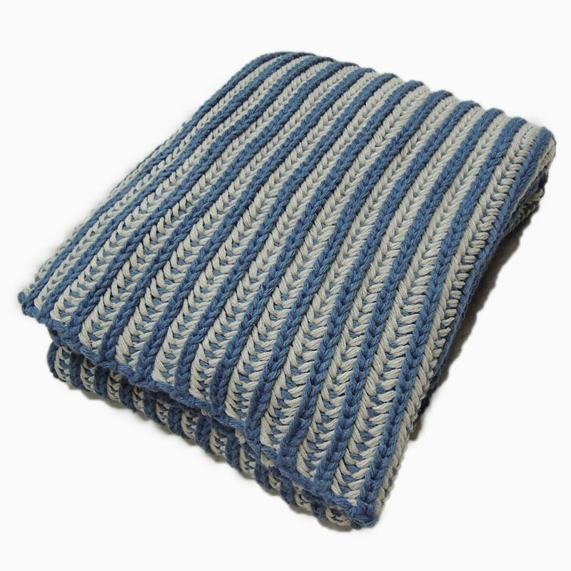 Two-Tone Ribbed Throw