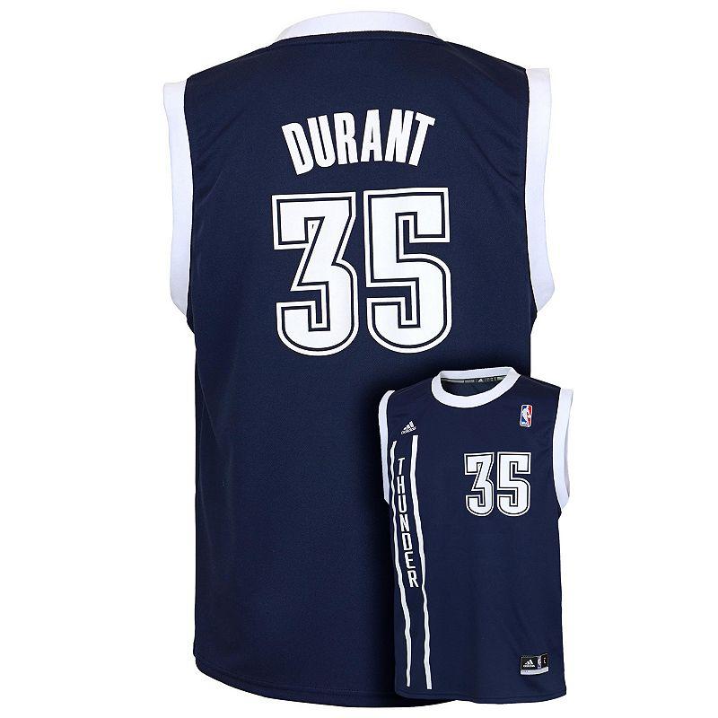 Boys 8-20 adidas Oklahoma City Thunder Kevin Durant Alternate NBA Jersey