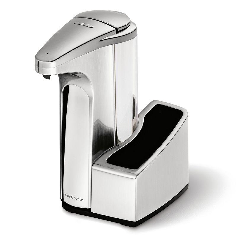 simplehuman 13-oz. Sensor Pump Soap Dispenser with Caddy