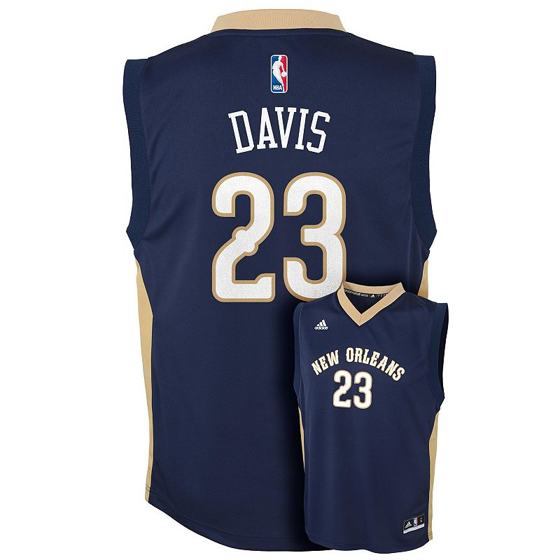 adidas New Orleans Hornets Anthony Davis NBA Jersey - Boys 8-20