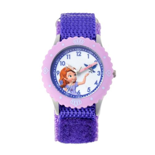 Disney Princess Sofia Stainless Steel Time Teacher Watch - Kids