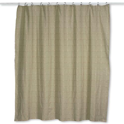Home Classics Durham Square Fabric Shower Curtain