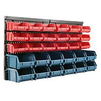 Trademark Tools 30-Bin Wall Mounted Storage Rack