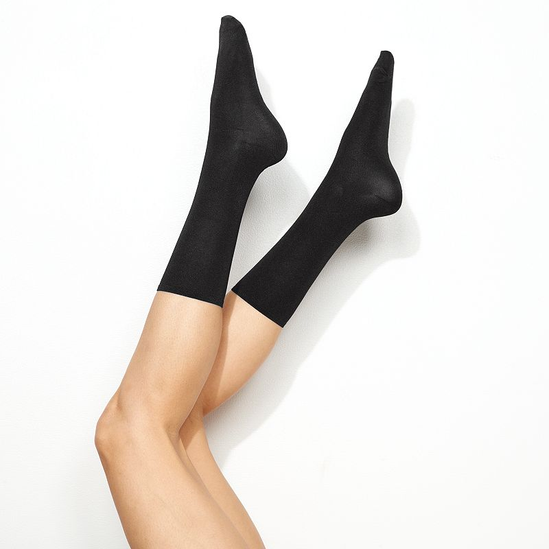 Simply Vera Vera Wang 2-pk. Luster Flat and Matte Crew Socks