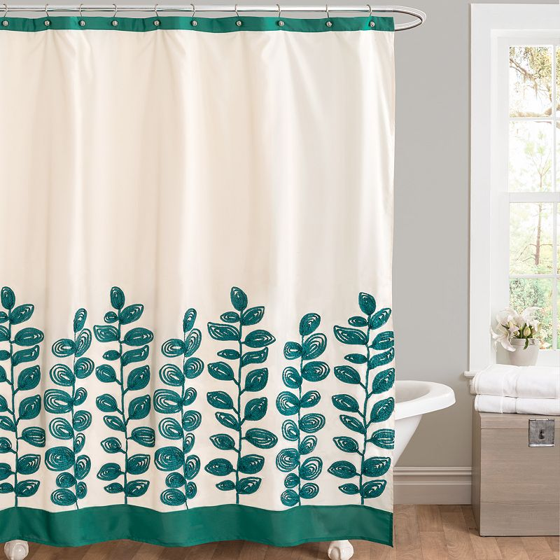 Lush Decor Vineyard Allure Fabric Shower Curtain