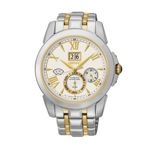 Seiko Men's Le Grand Sport Two Tone Stainless Steel Kinetic Watch - SNP066